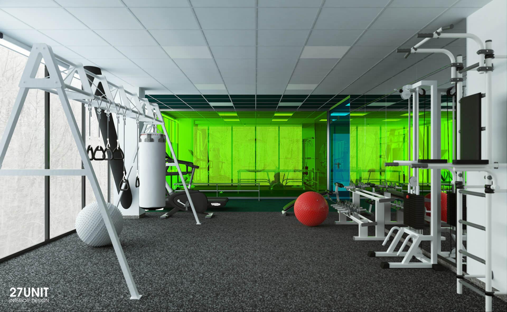 Дизайн интерьера проект яши7 спортзал офисы Украина
