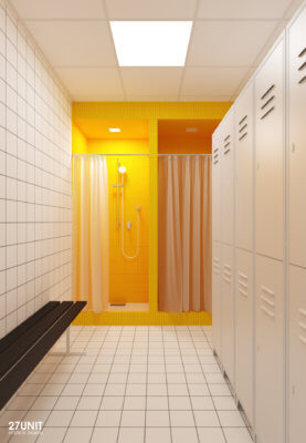Дизайн интерьера проект яши7 спортзал офисы Румыния